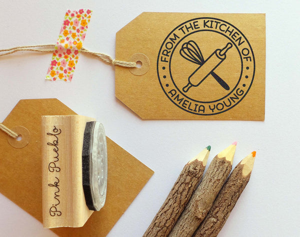 Personalized Baking and Cooking Rubber Stamp, From the Kitchen of Stamp - PinkPueblo