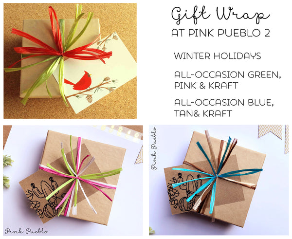 Holiday and All-Occasion Gift Wrapping - Add On - PinkPueblo