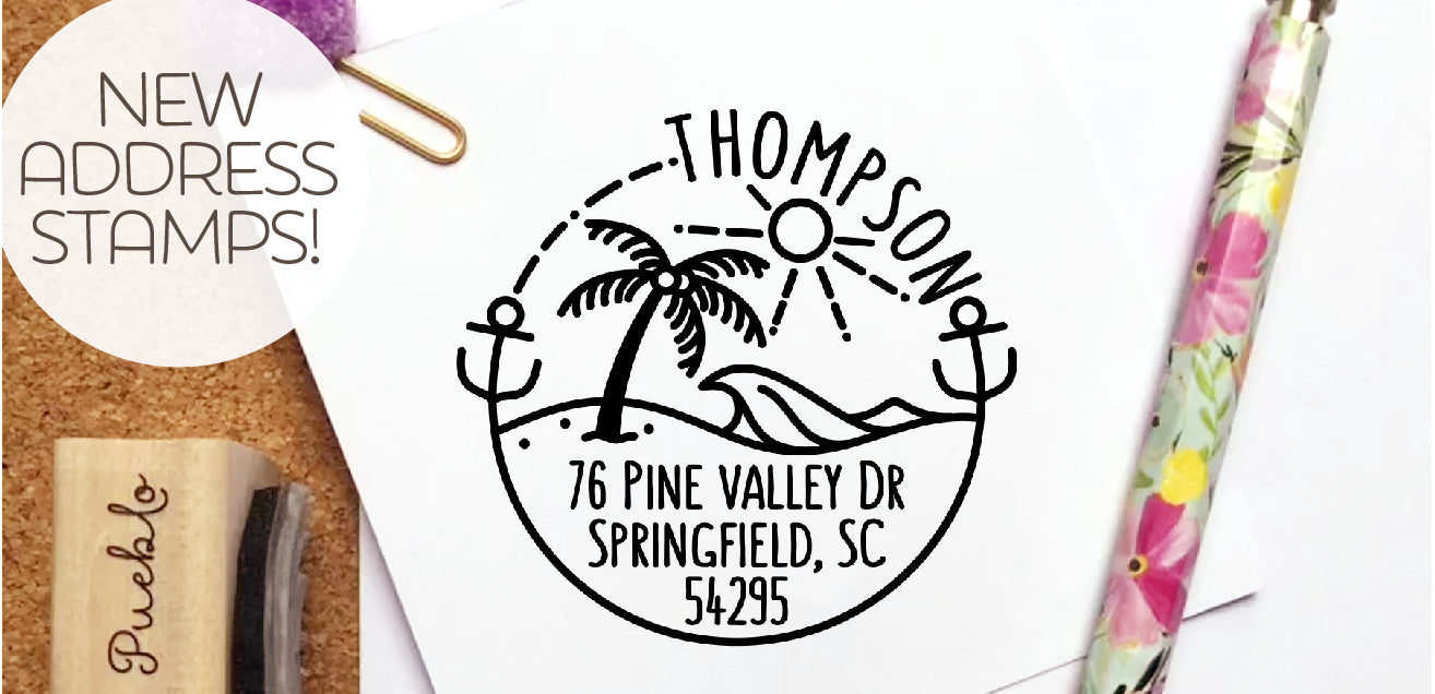 Shop personalized address stamps!