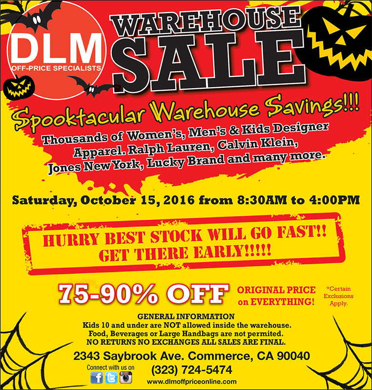 👻 Time to get your Treats / Up to 90% Off at DLM this Saturday Don't miss out!