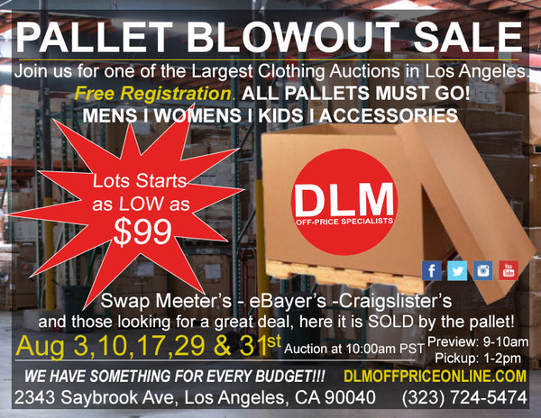 August Pallet Blowout Sale!