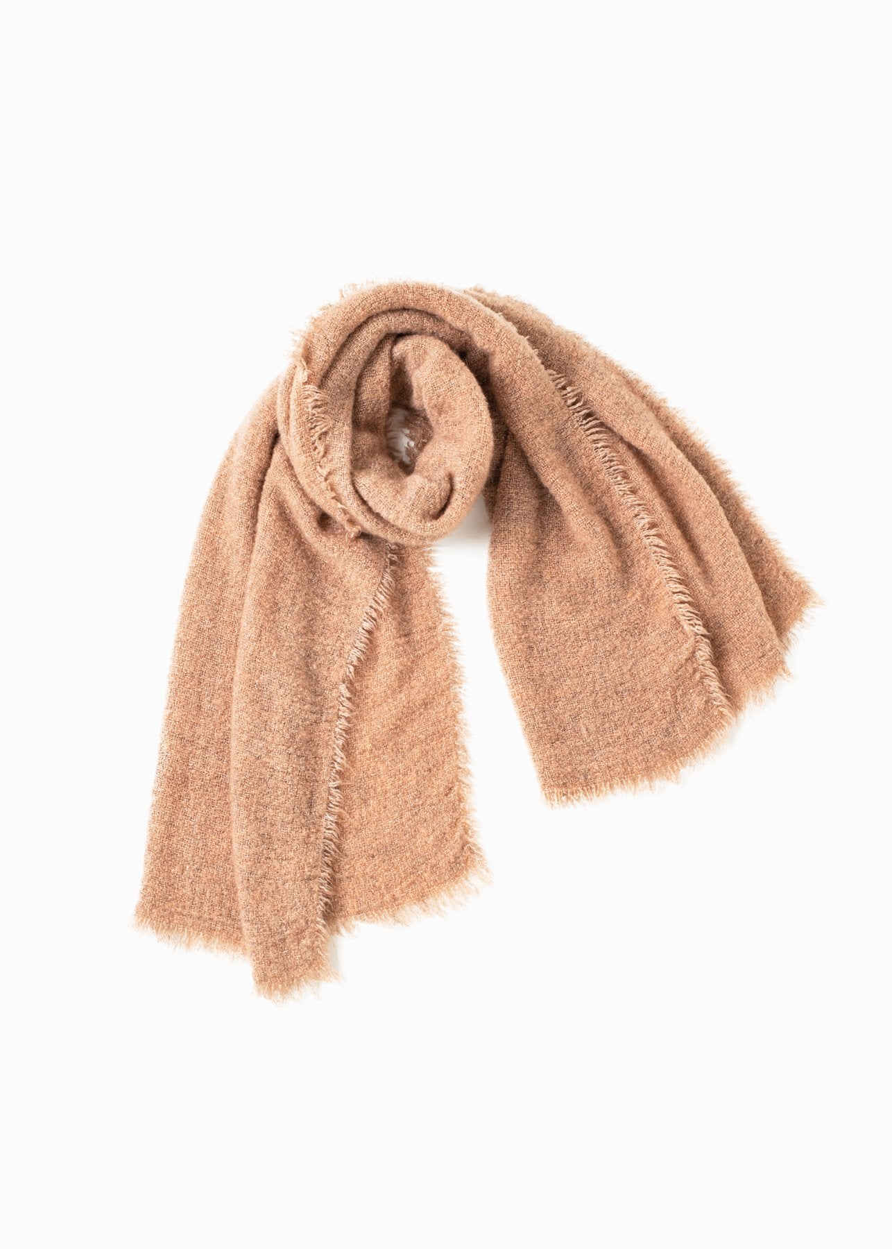 Look by M Vintage Raw Rough Fringe Scarf