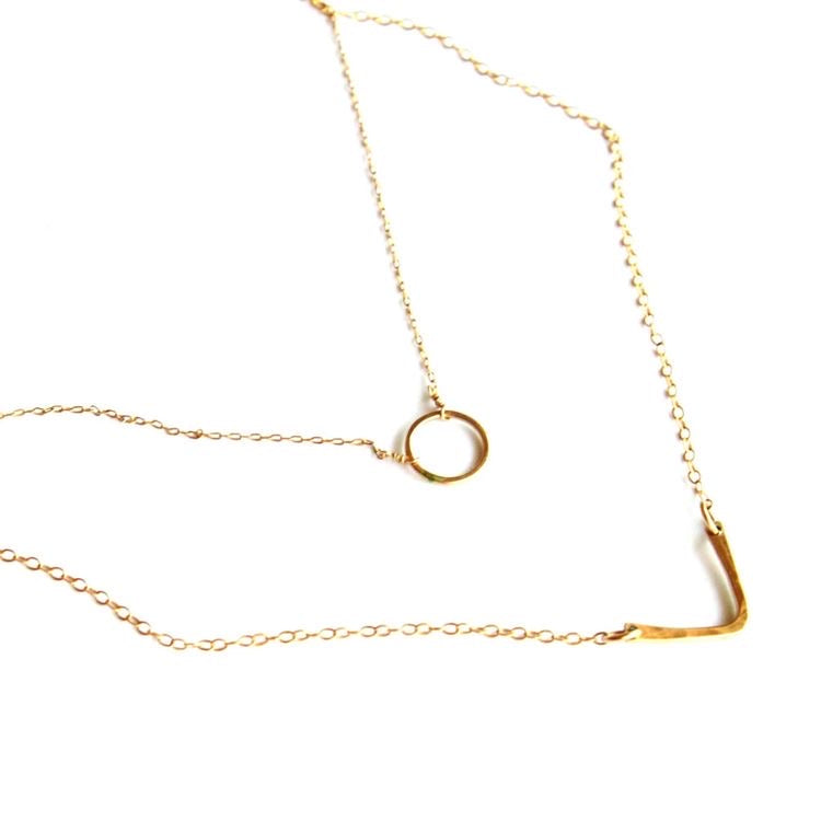Olivia Necklace in 14k gold filled