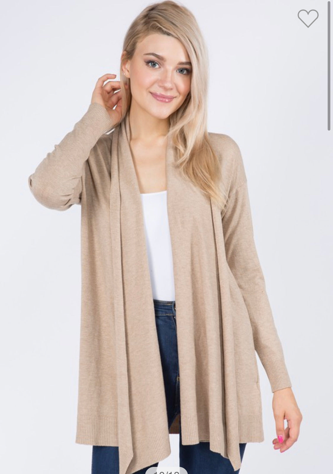 Dreamers Soft yarn waterfall cardigan