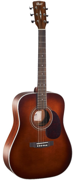 "Cort ""Earth70"" Earth Series Acoustic Guitar, Brown"