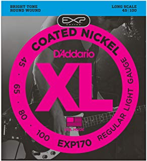 EXP170 D'addario Flex Steels 4-string bass set 45-100