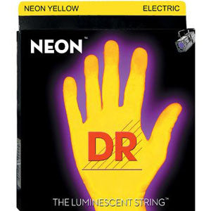 DR neon yellow electric guitar strings 10-46