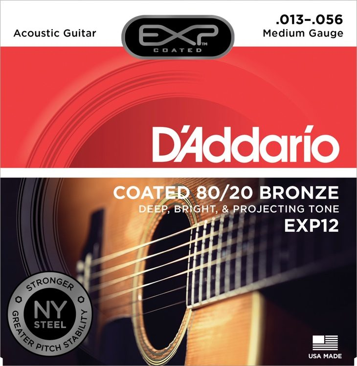 D'Addario EXP12 Coated 80/20 Bronze Acoustic Strings