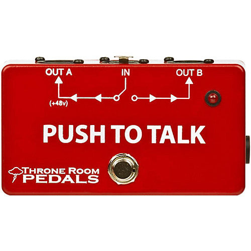 Throne Room Pedals Push to Talk Box