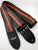 Couch Guitar Strap Brown with Orange Racing Stripe