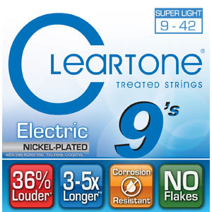 Cleartone Treated Electric Strings Nickel Plated 9-42