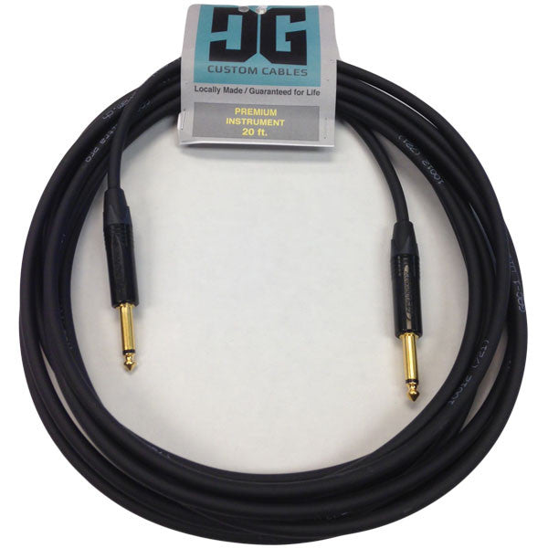 DG Custom Cables 20' Premium Instrument Cable