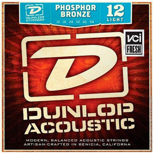Dunlop Phosphor Bronze Acoustic Guitar Strings 12-54
