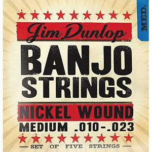 Dunlop Nickel wound Banjo strings one set of five strings