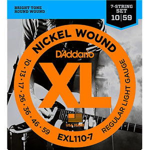 D'Addario exl110-7 nickel wound 7-string set 10-59