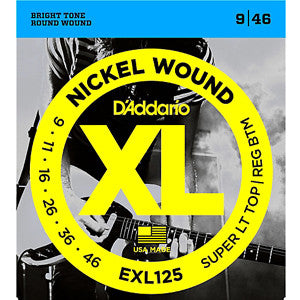 D'Addario exl125 nickel electric guitar strings 9-46
