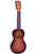 Mahalo Java Ukulele Three Tone Sunburst