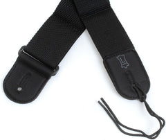 "Levy's 2"" Guitar Strap Black Poly"