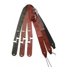 BitchStraps Square Ring Burgundy Leather Guitar Strap