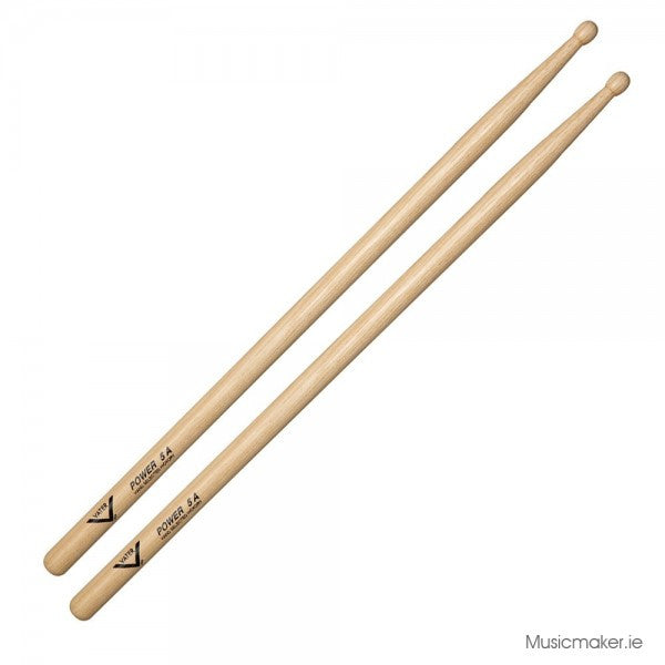 Vater Hickory Power 5A Wood Tip Drum Sticks
