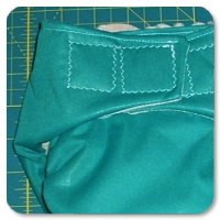 Sew a Fleece Pocket Diaper with Traditional Back Opening