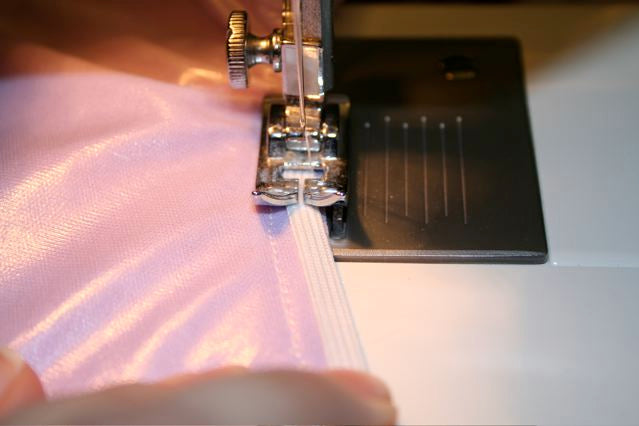 sew elastic into seam allowance