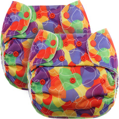 Rainbow Hearts PUL Fabric