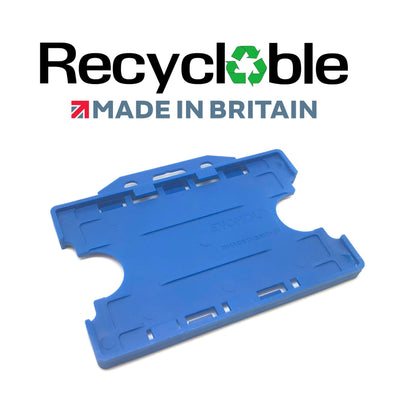 Recyclable EVOHOLD Double sided badge holders-Pack of 100 - Pos-Hardware Ltd