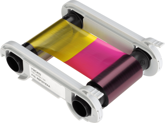 Evolis colour ribbon - Half Panel 1/2 YMCKO), fits for: Zenius, Primacy,