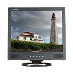 "19"" LCD Monitor (Black)  with VGA, Composite (RCA) video, S-Vdeo and speakers"