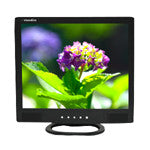 "17"" LCD Monitor (Black)  with VGA, BNC (1 in / 1 out) video and speakers"