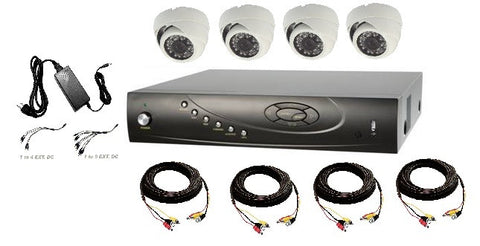 Four HD-TVI Dome Camera Bundle with 4 Channel DVR
