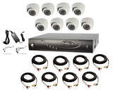 8 Channel, Up to 4 Terabyte, 8 Dome Camera, 1080p, HD-TVI Bundle