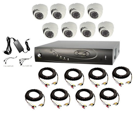 8 Channel, Up to 4 Terabyte, 8 Dome Camera, 720p, HD-TVI Bundle