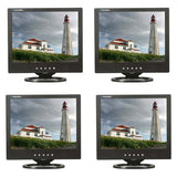 "BULK discount (4) 15"" LCD Monitor with VGA, BNC (1 in / 1 out) video and speakers"