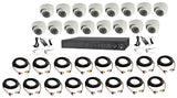 16 Channel, Up to 8 Terabyte, 16 Dome Camera, 1080p, HD-TVI Bundle