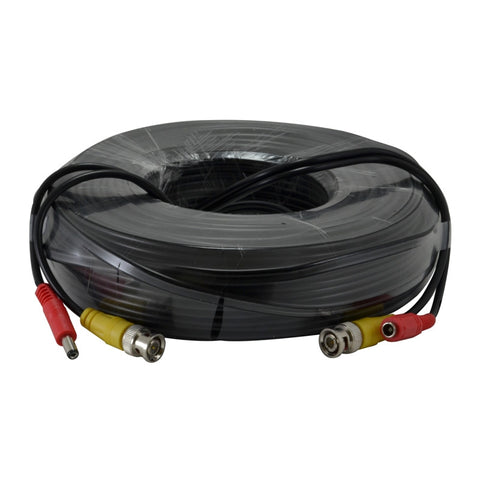 A spool of black cable