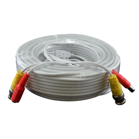 A spool of white cable