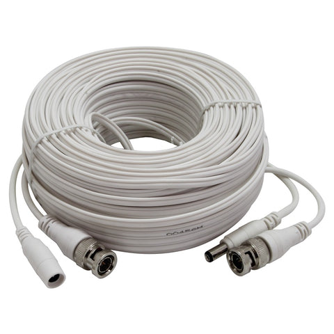 CBMX60W 60FT MINI COAXIAL VIDEO POWER PREMADE CABLE - WHITE