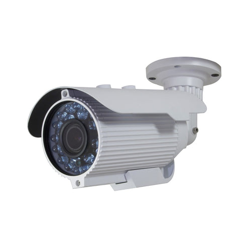 4-IN-1 AHD HD-TVI HD-CVI ANALOG 1080P NIGHTVISION WEATHERPROOF VARI-FOCAL BULLET CAMERA - hybrid camera - white color