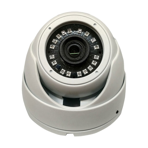 HD-TVI DOME: 4-IN-1 (CVI, TVI, AHD, ANALOG) TURRET DOME 1080P 2.8MM FIXED LENS 24IR WEATHERPROOF - SKU:TAAC-D800W-MCL-2.8