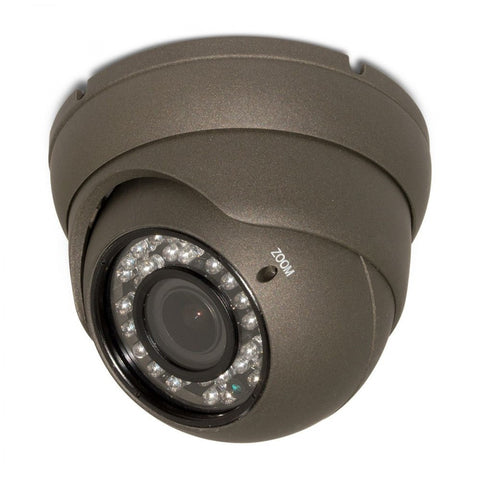 Gray or White - HD 4-IN-1 (CVI, TVI, AHD, ANALOG) TURRET DOME 1080P 2.8-12MM VARI-FOCAL LENS 36IR WEATHERPROOF