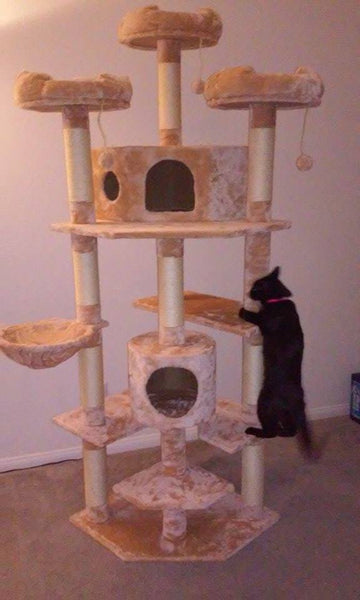 Denver model cat tree by Kitty Mansions