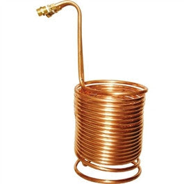 "Wort Chiller 70' x 3/8"" with Brass Fittings"