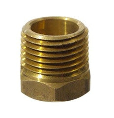"Brass Bushing 3/8"" FTP x 1/2"" MPT"