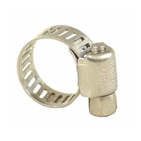 "Stainless Steel Screw Hose Clamp  (3/8"" to 7/8"" OD)"