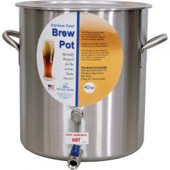 "Polar Ware 10.5 Gal Brew Pot w/Cover, 1/2"" Ball Valve & Extra Port"