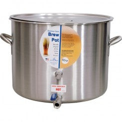 "Polar Ware 15 Gal Brew Pot w/Cover, 1/2"" Ball Valve & Extra Port"