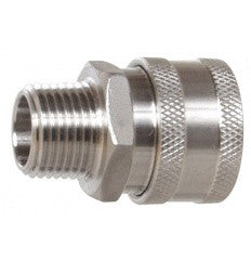"Stainless Steel Female Quick Disconnect, 1/2"" MPT"