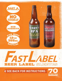 FastLabel 12oz Beer Label, 70 Sleeves